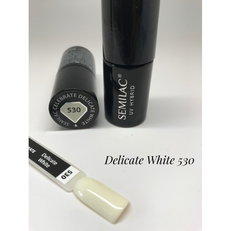 530 UV Semilac Celebrate Delicate White 7ml