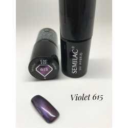 615 UV Lakier hybrydowy Semilac Cat Eye Violet 7ml