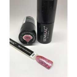 295 UV Lakier hybrydowy Semilac Peach Pink Shimmer 7ml