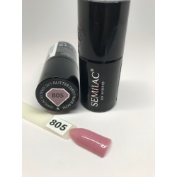 805 Semilac Extend 5in1 Glitter Dirty Nude Rose  7ml