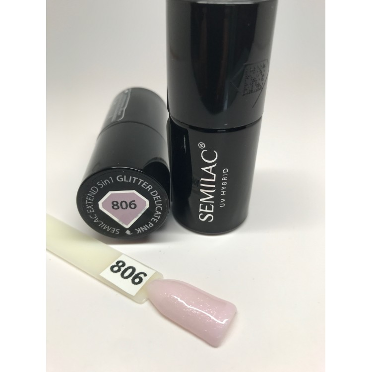 806 Semilac Extend 5in1 Glitter Delicate Pink  7ml