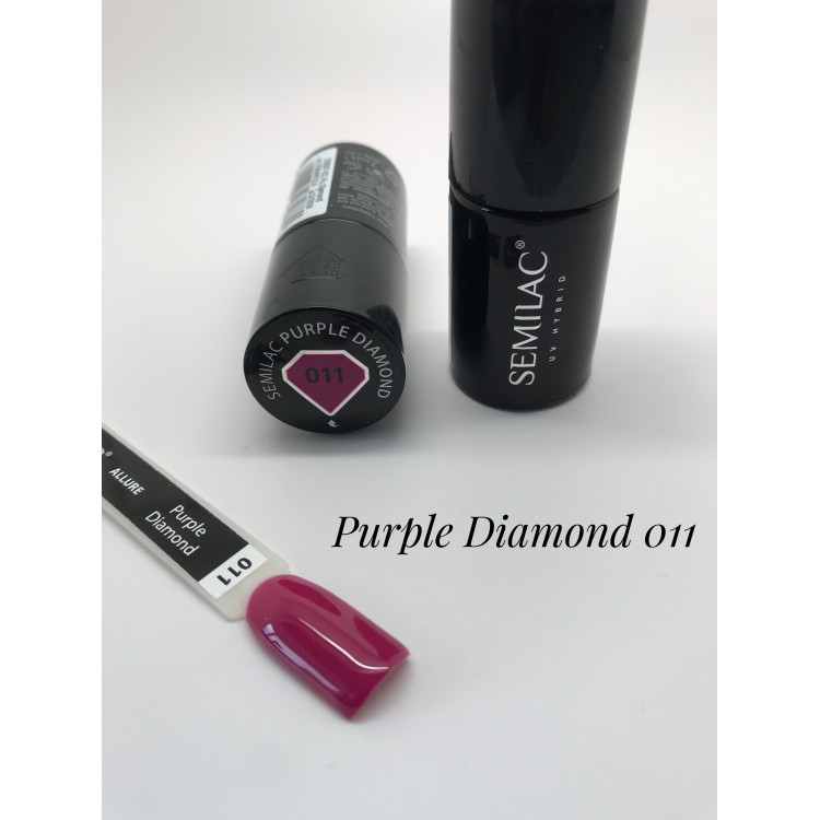 011UV Lakier Hybrydowy Semilac Purple Diamond 7ml