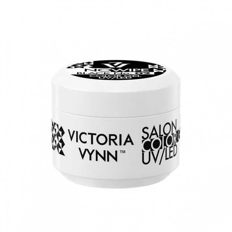 Żel kolorowy bez warstwy dyspersyjnej – czarny  COLOR GEL NO WIPE Victoria Vynn