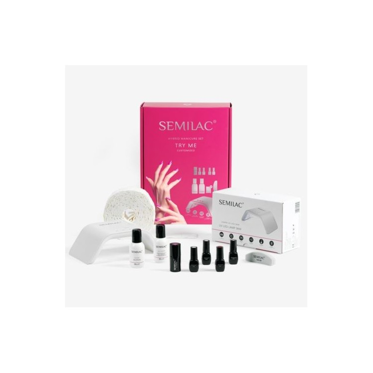 Starter set Semilac Try Me 36W Lamp WITH COLOR TO CHOOSE