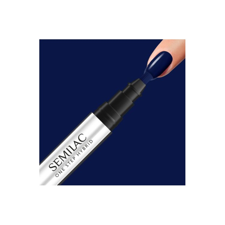 S890 Semilac ONE STEP HYBRID Midnight Blue 3 ml