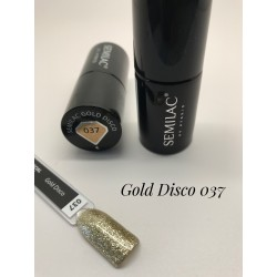 037 UV Hybrid Semilac Gold Disco 7ml