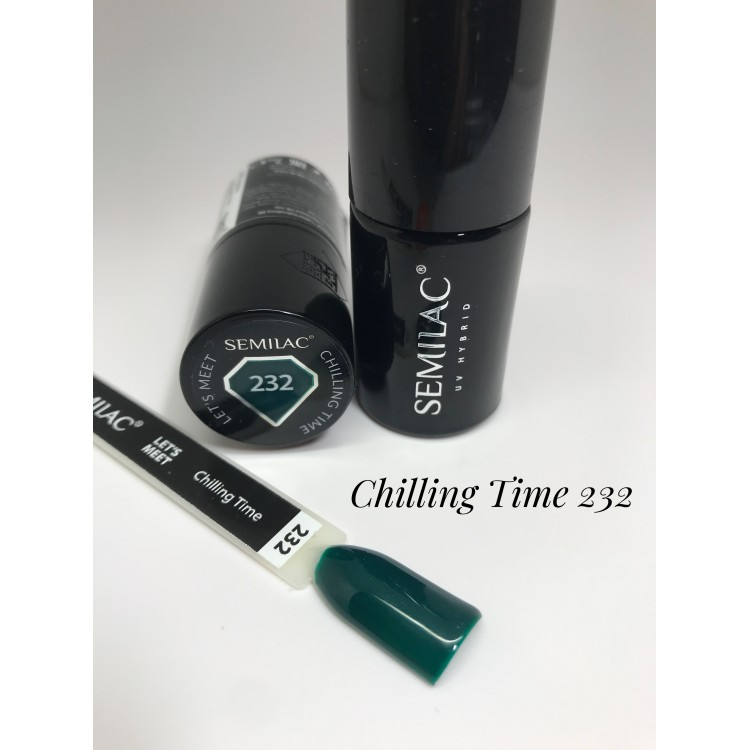 232 UV Lakier Hybrydowy Semilac LET'S MEET Chilling time 7ml