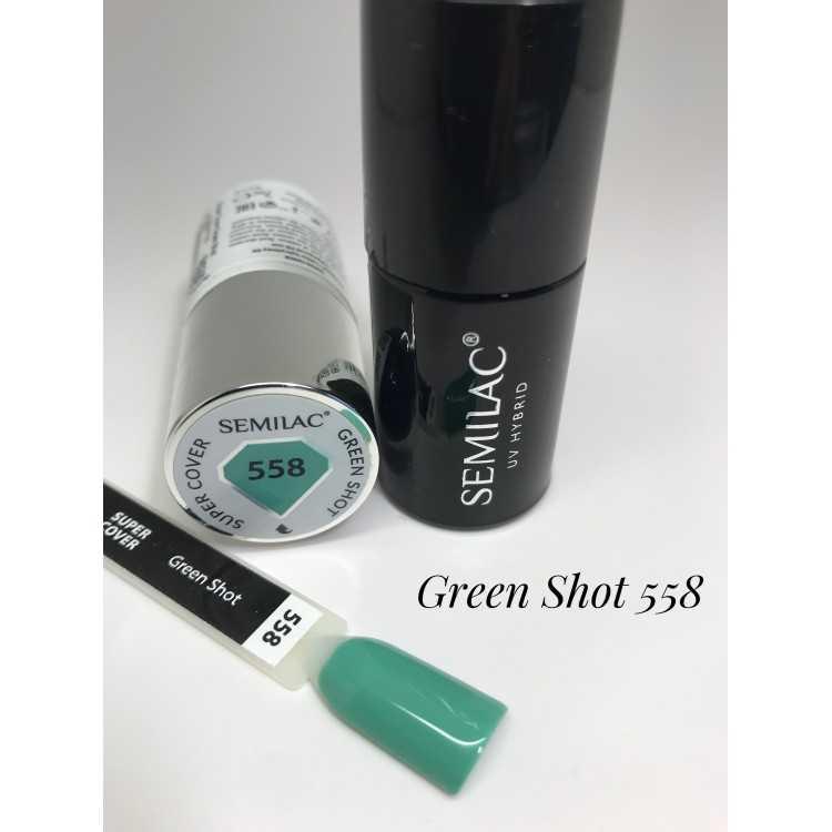 558 UV Hybrid Semilac Super Cover Green Shot 7ml