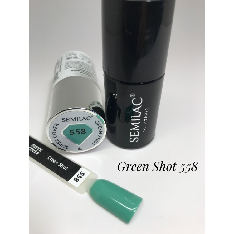 558 UV Semilac Super Cover Green Shot  7ml