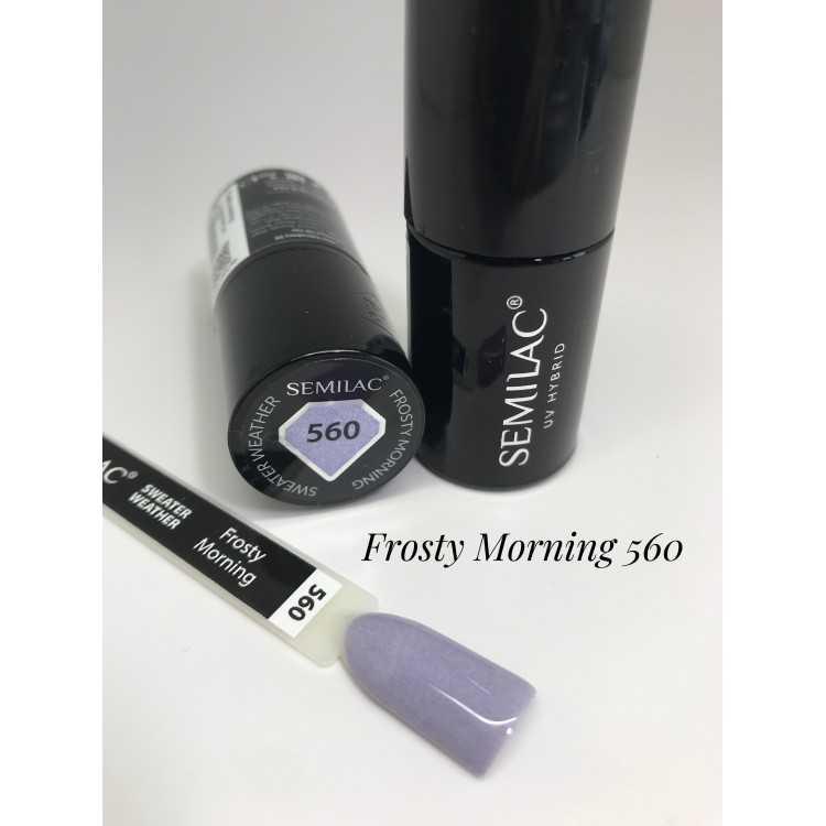 560 UV Lakier Hybrydowy Semilac Frosty morning 7ml
