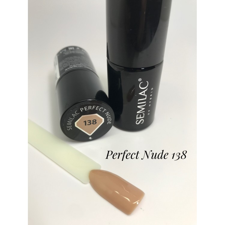 138 UV Lakier Hybrydowy Semilac Perfect Nude 7ml