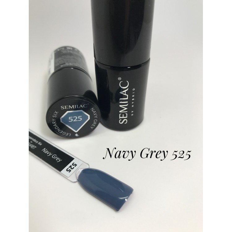 525 UV Semilac Legendary Six by Margaret Navy Grey 7ml