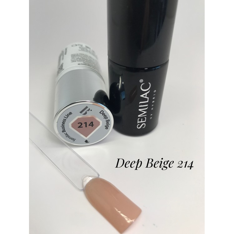 214 UV Hybrid Semilac Business Line Deep Beige 7ml