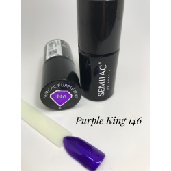 146 UV Lakier Hybrydowy Semilac Purple King  7ml