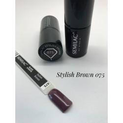 075 UV Lakier Hybrydowy Semilac Stylish Brown 7ml