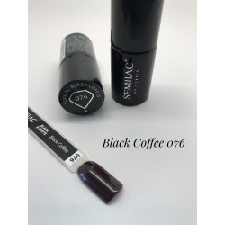 076 UV Lakier Hybrydowy Semilac Black Coffee 7ml
