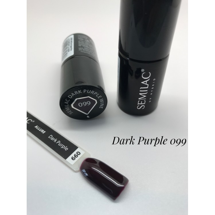 099 UV Hybrid Semilac Dark Purple Wine 7ml