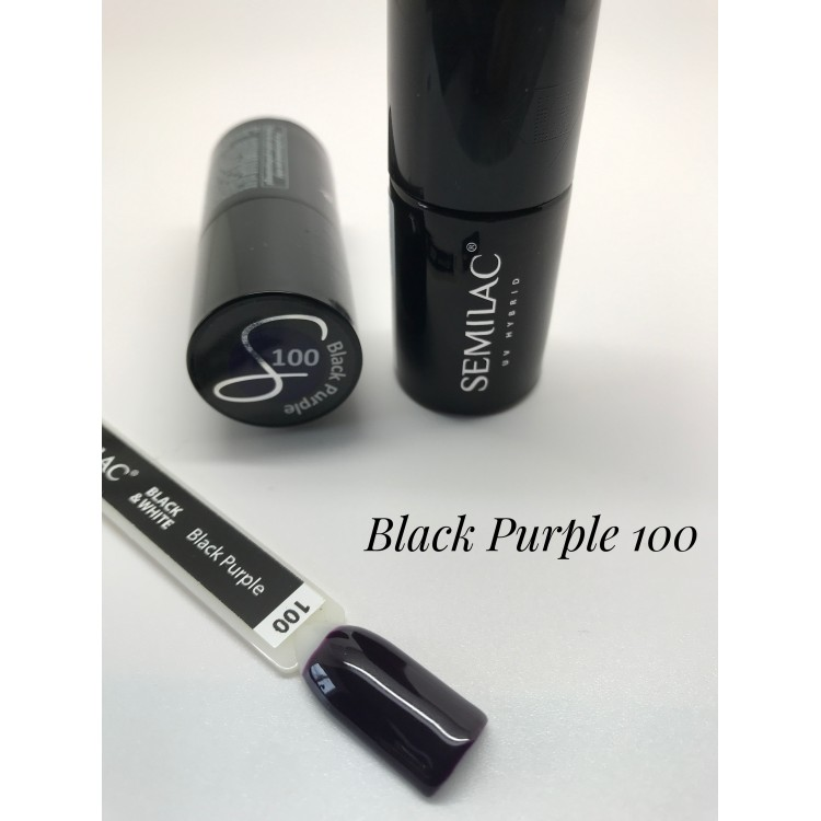 100 UV Lakier Hybrydowy Semilac Black Purple 7ml