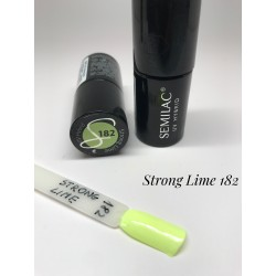 182 UV Lakier Hybrydowy Semilac Strong Lime 7ml